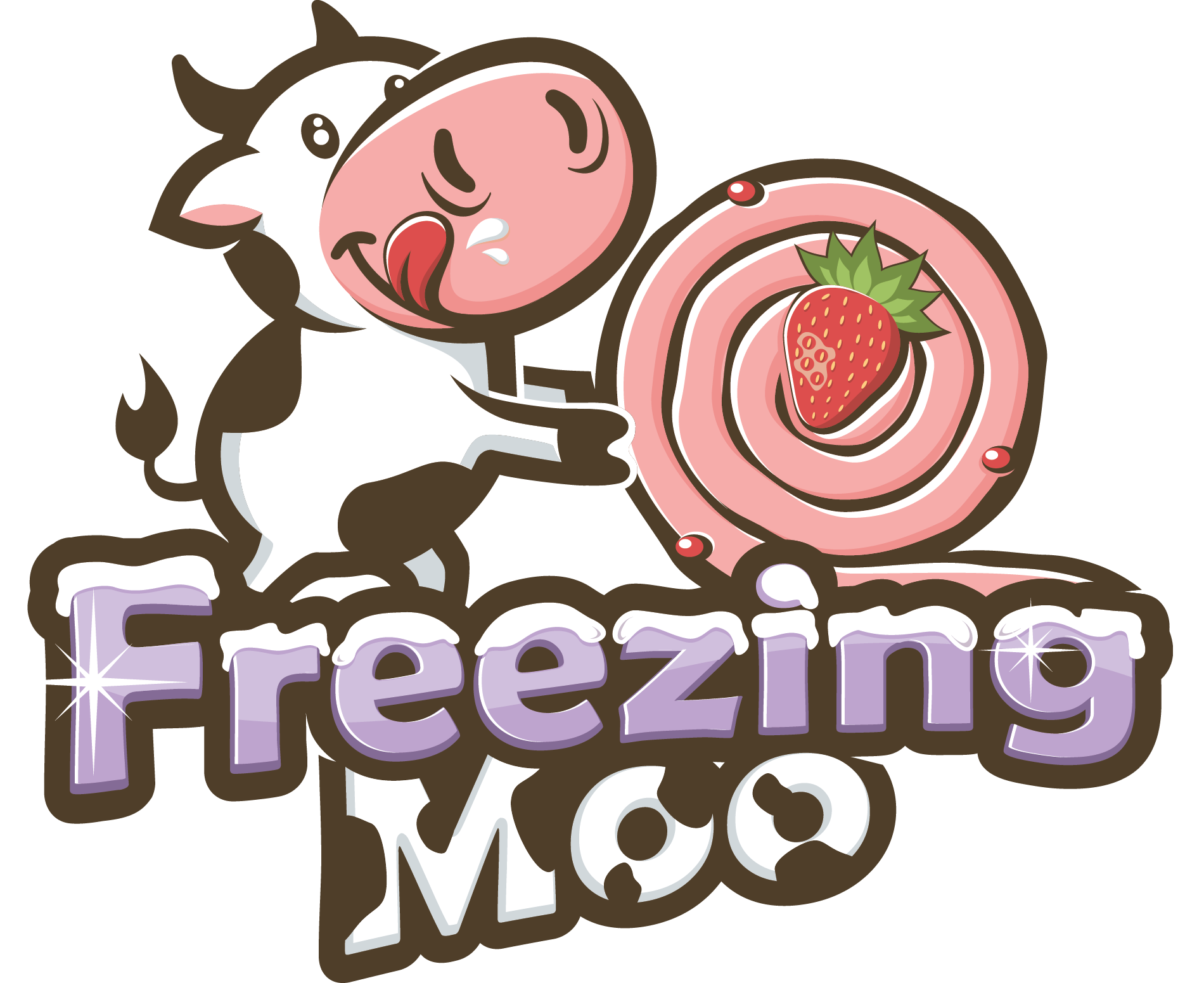 A white cow - Freezing Moo Rolling Ice Cream