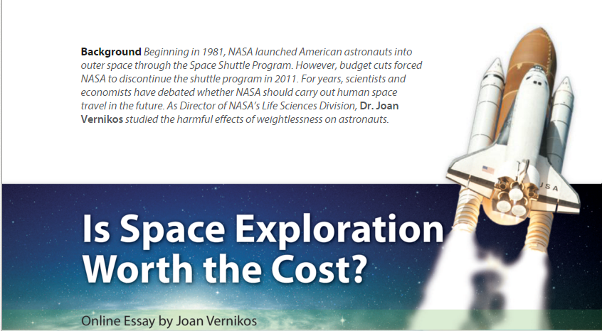argumentative essay space exploration Space exploration is beneficial to mankind in many ways it should  don't waste  your time on boring essays – save it for the things you like.
