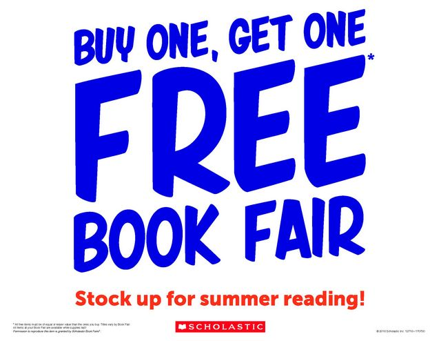 Announcement Image for Buy One Get One Book Fair May 16-18