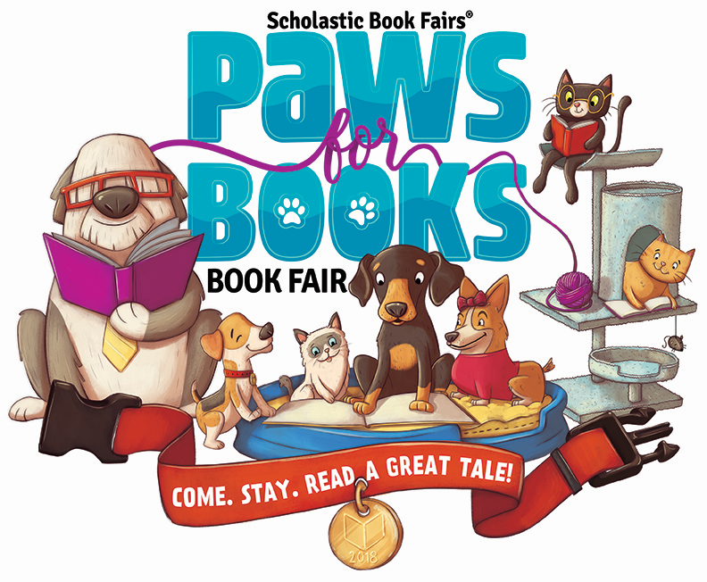 Scholastic Book Fairs Paws for Books Book Fair Come Stary Read a Great Tale