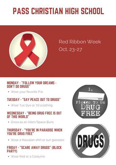 Red Ribbon Week Oct 23-27