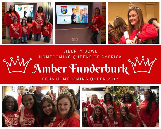 PCHS Homecoming Queen participate in Homecoming Queens of America at the Liberty Bowl in Memphis