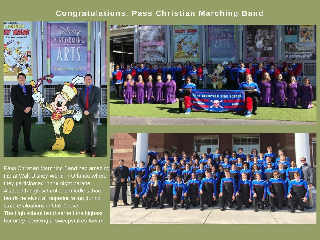 2017 PCHS Band Walt Disney World