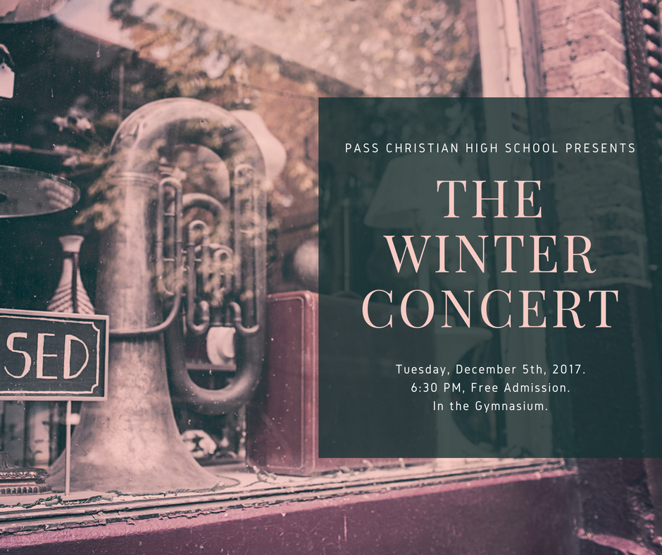 The Winter Concert Tuesday December 5th