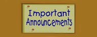 Announcments