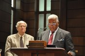 Pictured is Zeke Willis, ASOT Committee Member and Mayor William Bell (click for larger image)