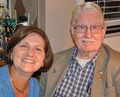 Grandpa Schober and his daughter, Doris