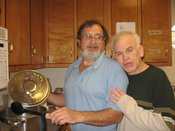 Doug and Willie Cooking at the Activity Center