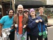 L'Arche members at the Mobile Marathon