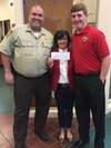 Dale Blanchard and James Nelson with Adamsville Principal Susan Remick