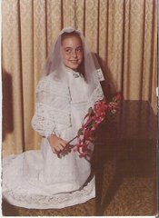 Lisa Taylor in her First Communion dress