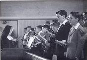 School Children at Mass