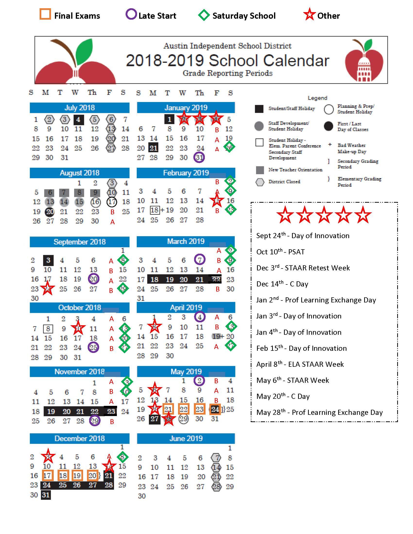 Aisd Calendar 2022.Abilene Isd Calendar 2019