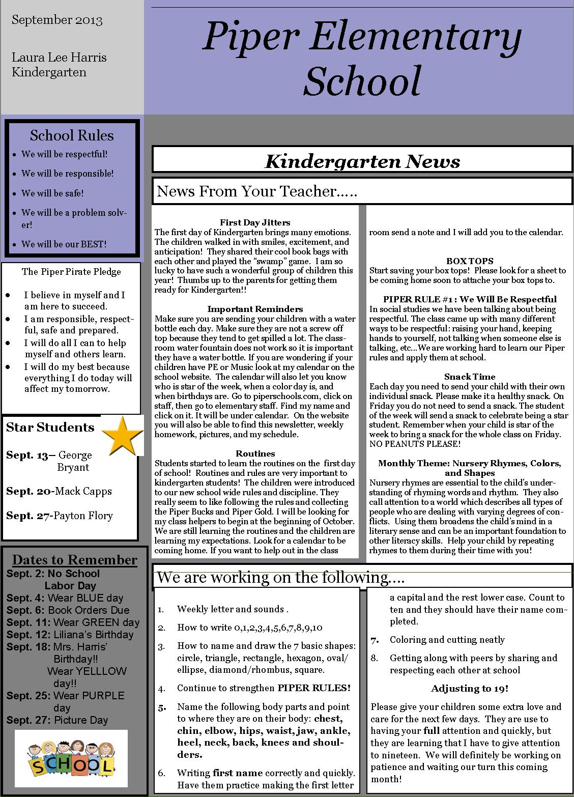 elementary school newsletter cake ideas and designs. Black Bedroom Furniture Sets. Home Design Ideas