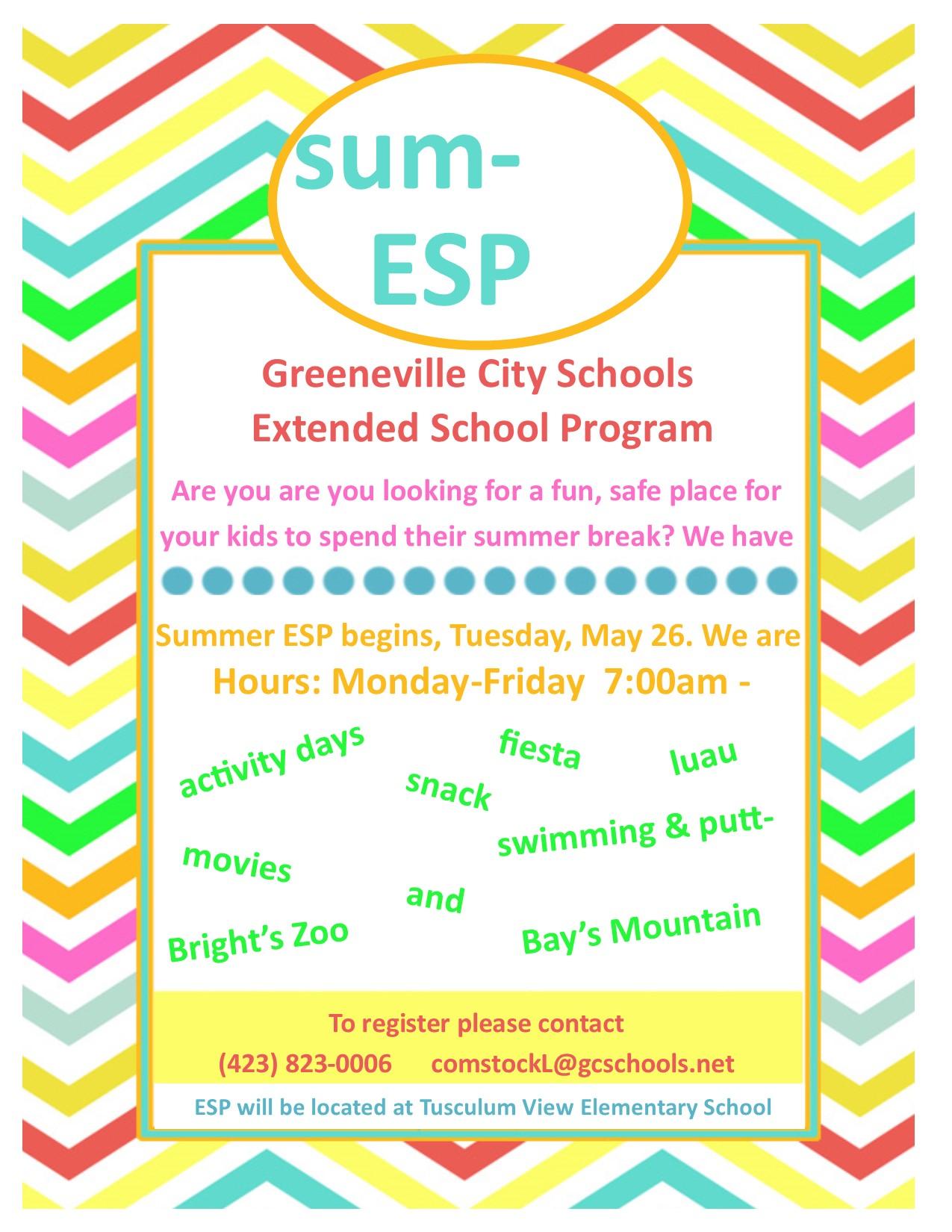 Greeneville High School: Summer Extended School Program ...