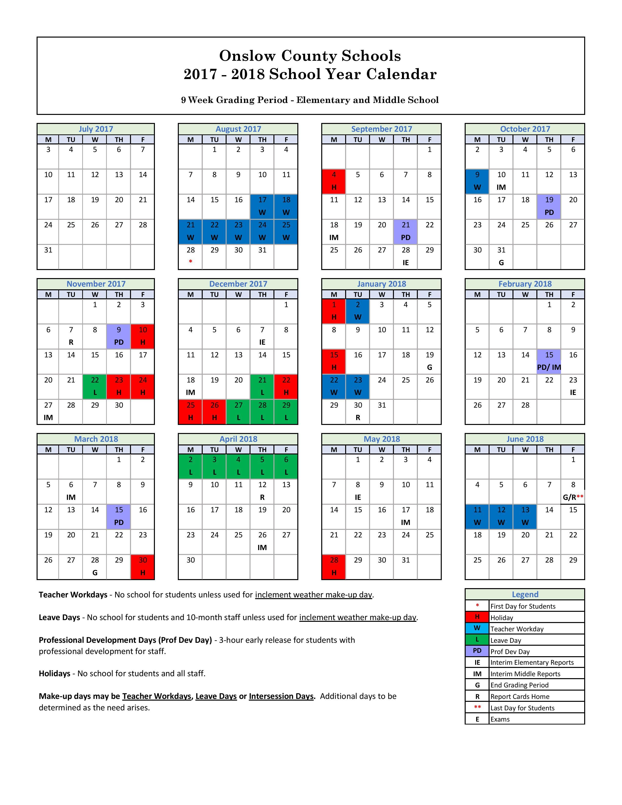 Year Round Calendar Durham Public Schools : Elementary school calendar